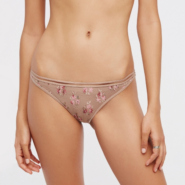 Picture of Flower Print Bikini Bottoms